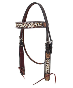 Rafter T Ranch Leopard Print Browband Headstall- Style #BB4108