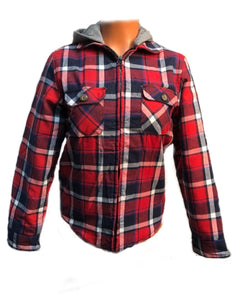 Crazy Cowboy Plaid Hooded Jacket- Style #BFTB-05
