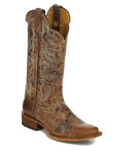 JUSTIN WOMEN'S KATIA TAN DISTRESSED BOOT- STYLE #BRL450
