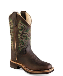 Old West Children's Broad Square Toe Boot- Style #BSC1822