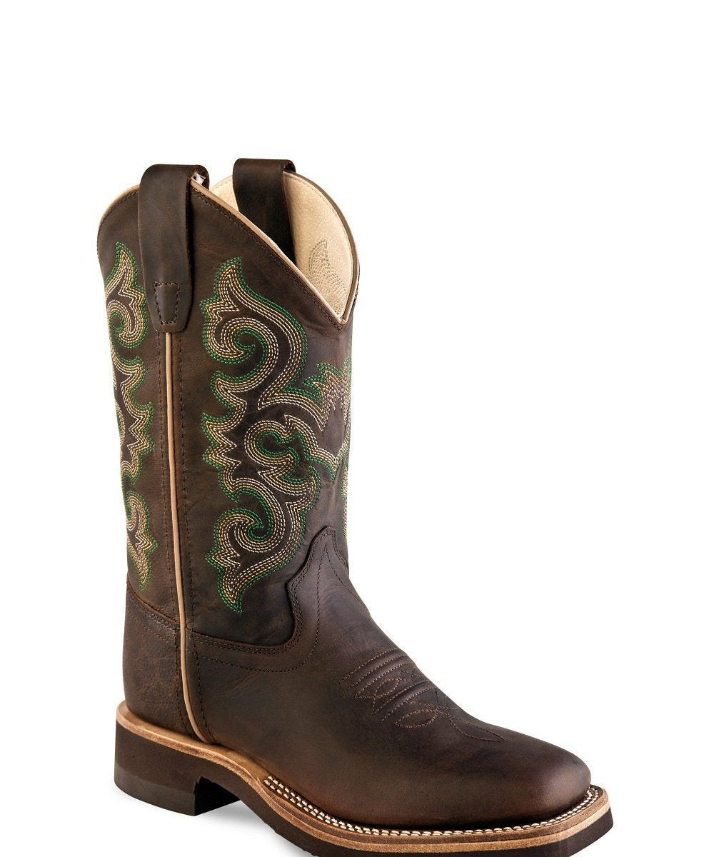 OLD WEST YOUTH BROAD SQUARE TOE BOOT- STYLE #BSY1822