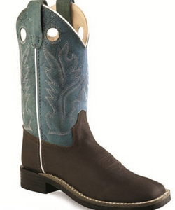 OLD WEST KIDS' YOUTH ULTRA FLEX SQUARE TOE BOOT- STYLE #BSY1884