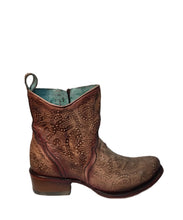 Corral Women's Cutout Hand Painted Ankle Boot- Style #C3492