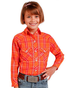 Panhandle Slim Girls' Long Sleeve Plaid Snap Shirt- Style #C6S2276