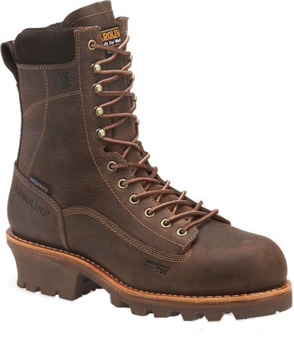 CAROLINA BOOTS MEN'S WATERPROOF INSULATED COMPOSITE TOE LOGGER BOOT- STYLE #CA7521