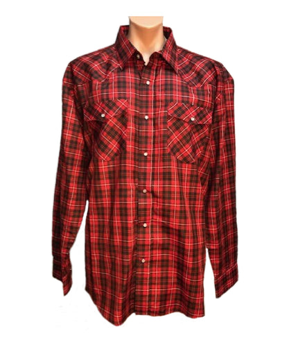 Crazy Cowboy Men's Assorted Plaid Snap Shirts- Style #CCP-1