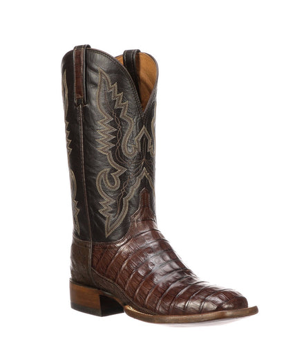 LUCCHESE MEN'S TRENT CAIMAN TAIL BOOT- STYLE #CL1006.WF