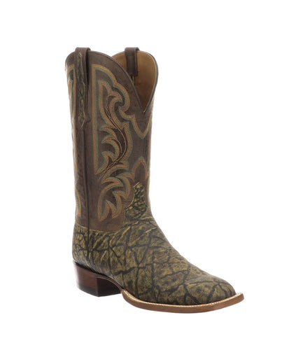 LUCCHESE MEN'S CARRINGTON  ELEPHANT SQUARE TOE BOOT- STYLE #CL1069.W8