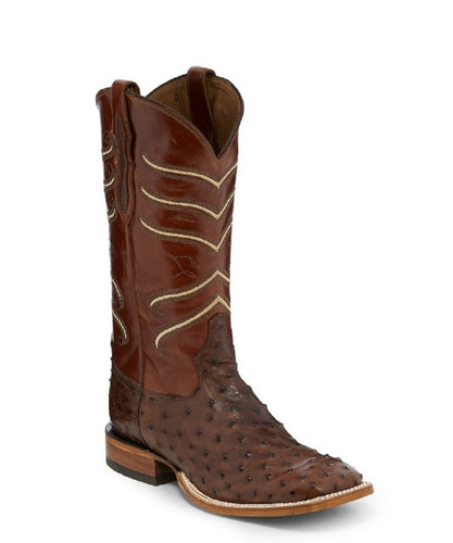 TONY LAMA MEN'S SQUARE TOE KANGO TOBAC HERMOSO FULL QUILL BOOTS - STYLE #CL821
