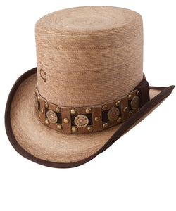 CHARLIE 1 HORSE QUICK DRAW STRAW TOP HAT- STYLE #CSQKDR-1124FB