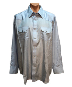 Crazy Cowboy Men's Blue Snap Shirt- Style #CCS-2TT-BLU