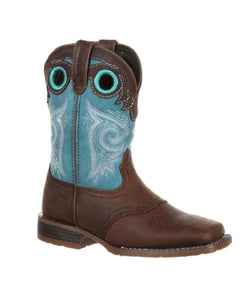 DURANGO KIDS' 'LIL MUSTANG SQUARE TOE BOOTS - STYLE #DBT0206Y