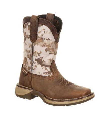 DURANGO KIDS' LIL REBEL SQUARE TOE CAMO WESTERN BOOTS - STYLE #DBT0208C