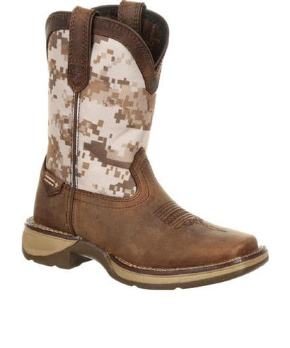 DURANGO KIDS' LIL' REBEL BIG KIDS' DESERT CAMO WESTERN BOOT- STYLE #DBT0208Y