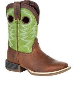 Durango Kids' Lil Rebel Pro Little Kid's Lime Western Boot- Style #DBT0221Y