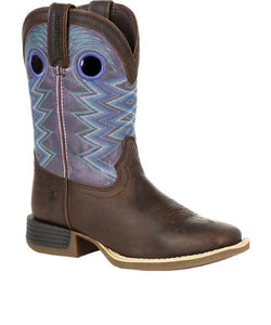 Durango Kids' Lil' Rebel Big Kids' Amethyst Western Boot- Style #DBT0225Y