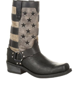 Durango Men's Square Toe Black Faded Flag Harness Boot- Style #DDB0141