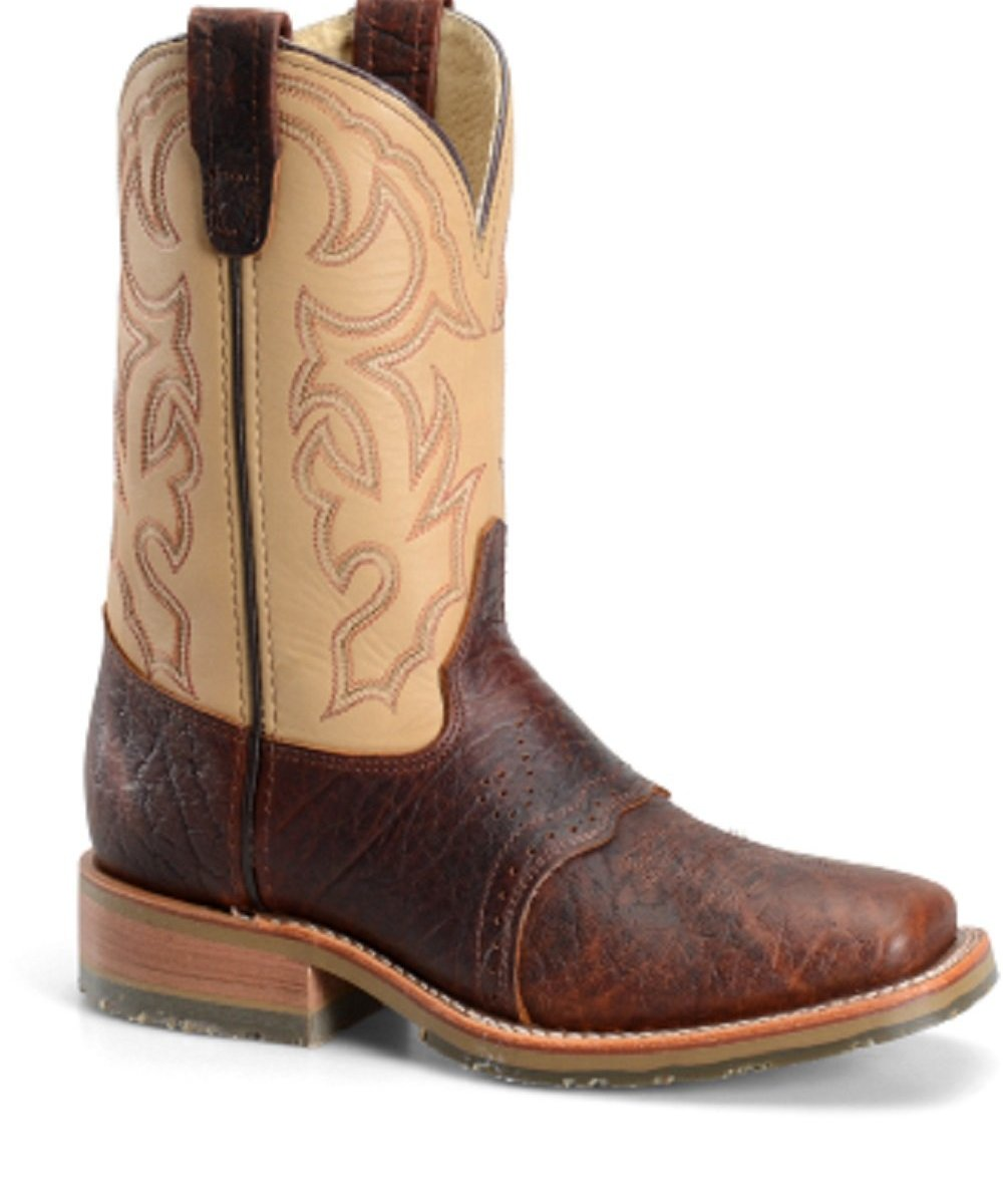 DOUBLE H MEN'S BISON SQUARE TOE ROPER- STYLE #DH4305