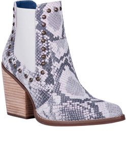 Dingo Women's Stay Sassy Natural Snake Bootie- Style #DI118-NATURAL