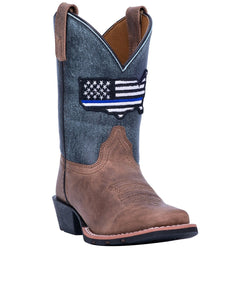 Dan Post Youth Thin Blue Line Leather Boot- Style #DPC3956