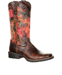 DURANGO WOMEN'S RED MUSTANG WESTERN BOOT- STYLE #DRD0226