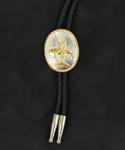 M&F Western Adult Double S End Of Trail Bolo Tie- Style #22275