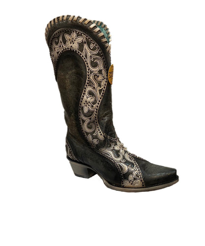 Corral Women's Floral Overlay Studded Boot- Style #E1540