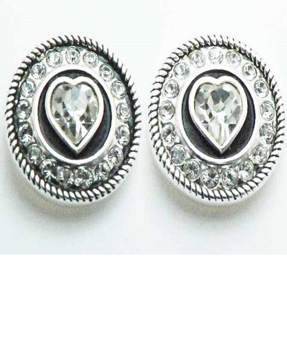 FINISHING TOUCH OF KENTUCKY WOMEN'S CONCHO HEART EARRINGS - STYLE #ER2503