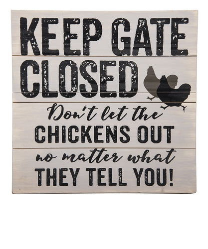 Ganz Keep Gate Closed Wall Plaque- Style #ER53534