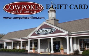COWPOKES E-GIFT CARD FOR ONLINE SHOPPING- STYLE #E-GIFT CARD