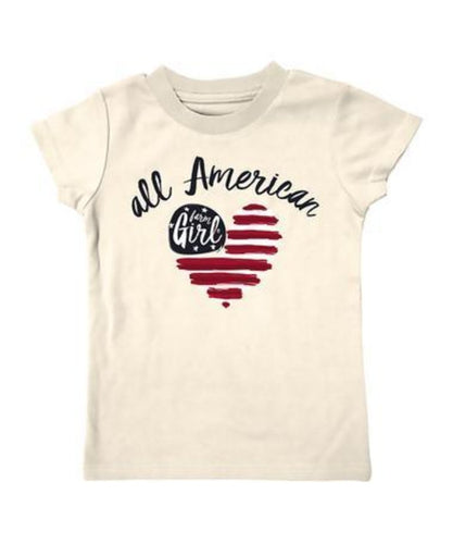 FARM GIRL INFANT/TODDLER 'ALL AMERICAN' TEE- STYLE #F63008263