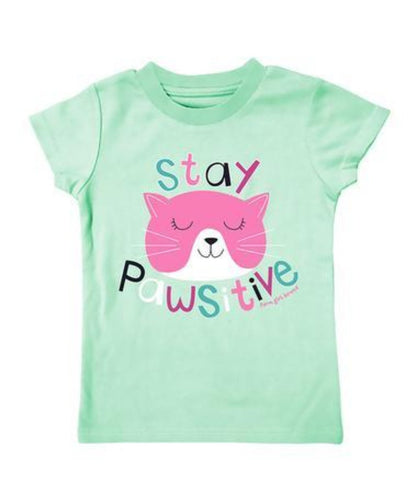 FARM GIRL INFANT/TODDLER 'STAY PAWSITIVE' TEE- STYLE #F63008271