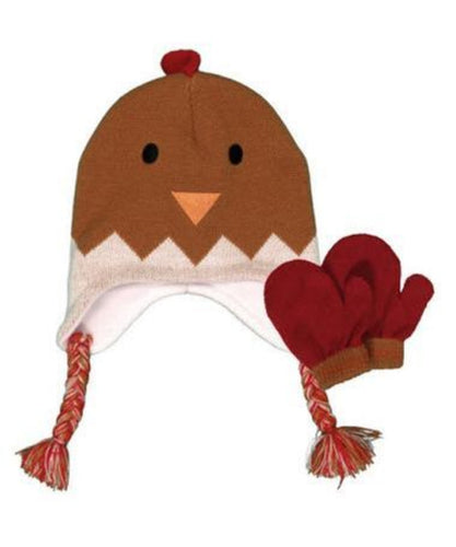 FARM BOY YOUTH ROOSTER HAT WITH MITTENS- STYLE #F71474185