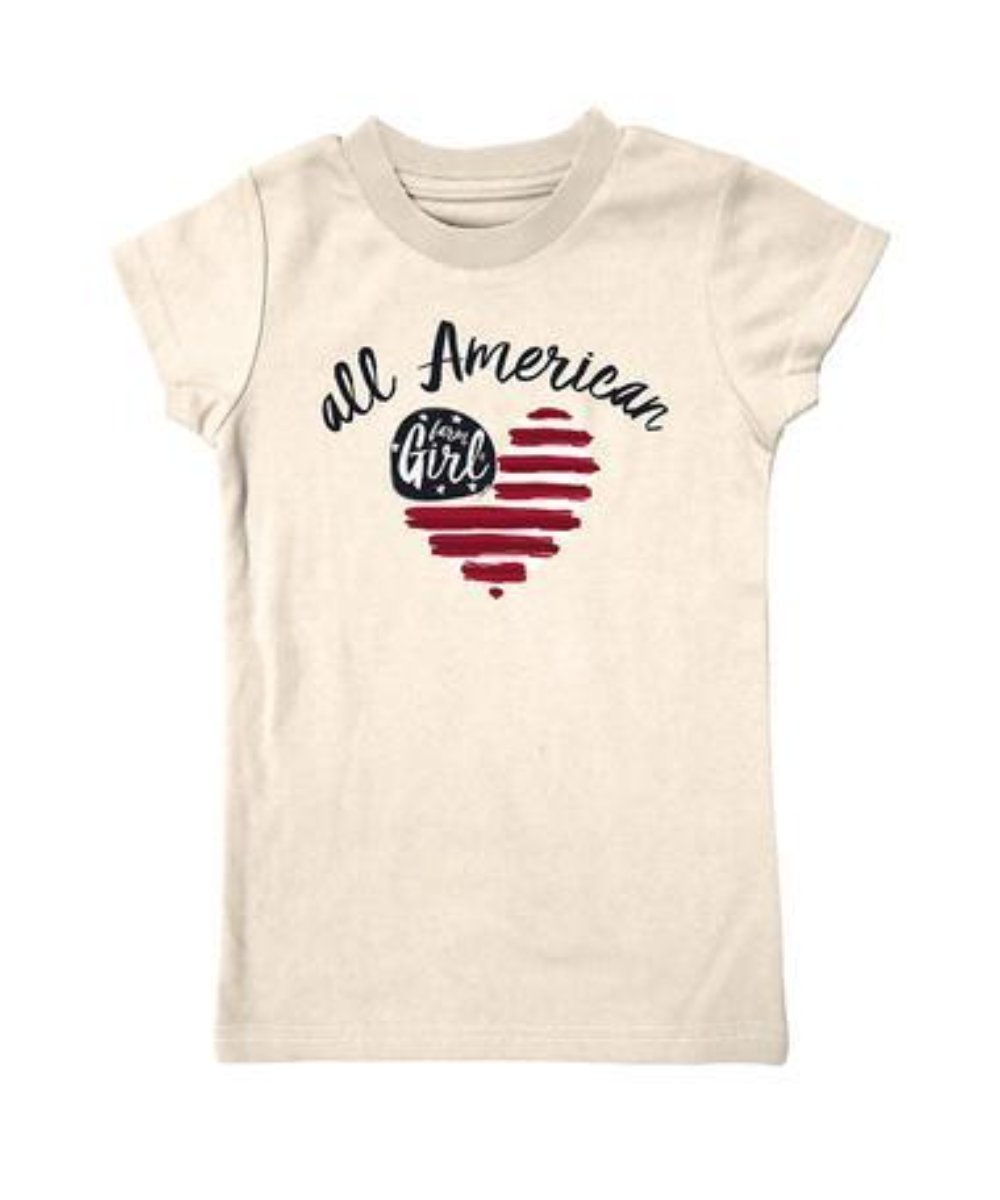Farm Girl Girls' All American Tee- Style #F83008263