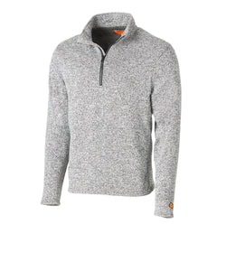 Wrangler Men's Flame Resistant 1/4 Zip Heather Gray Pullover- Style #FR193GH