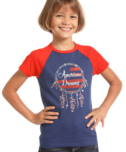 ROCK & ROLL COWGIRL GIRLS' SHORT SLEEVE T SHIRT - STYLE #G3T6558
