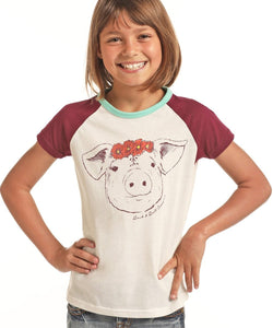 PANHANDLE GIRLS' ROCK & ROLL COWGIRL TEE- STYLE # G3T9185
