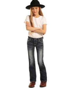 Rock & Roll Cowgirl Girls' Boot Cut Jean- Style #G5-3456