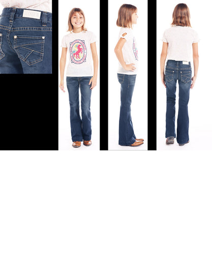Panhandle Girls' Rock & Roll Cowgirl Extra Stretch Trouser- Style #G5F1026