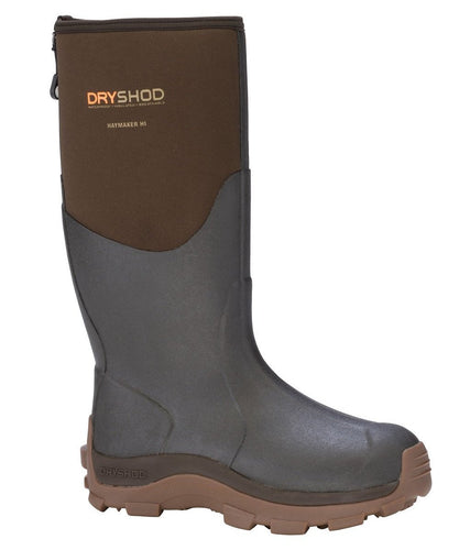 DRYSHOD MEN'S HAYMAKER HARD WORKING FARM BOOTS- STYLE #HAY-MH-BR