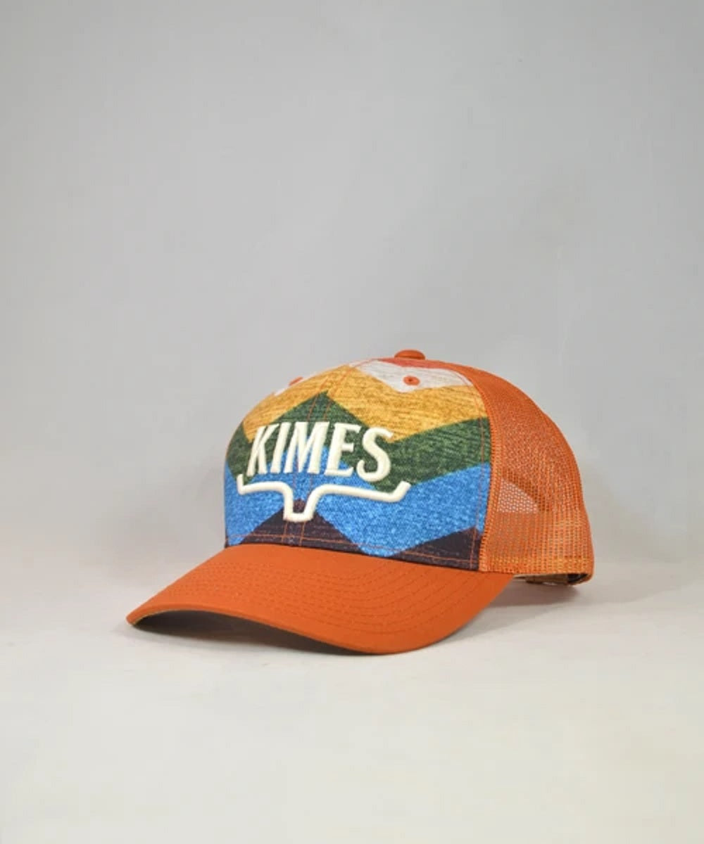 KIimes Ranch Orange Hand Woven Trucker Cap- Style #HND WVN TRKR-ORANGE