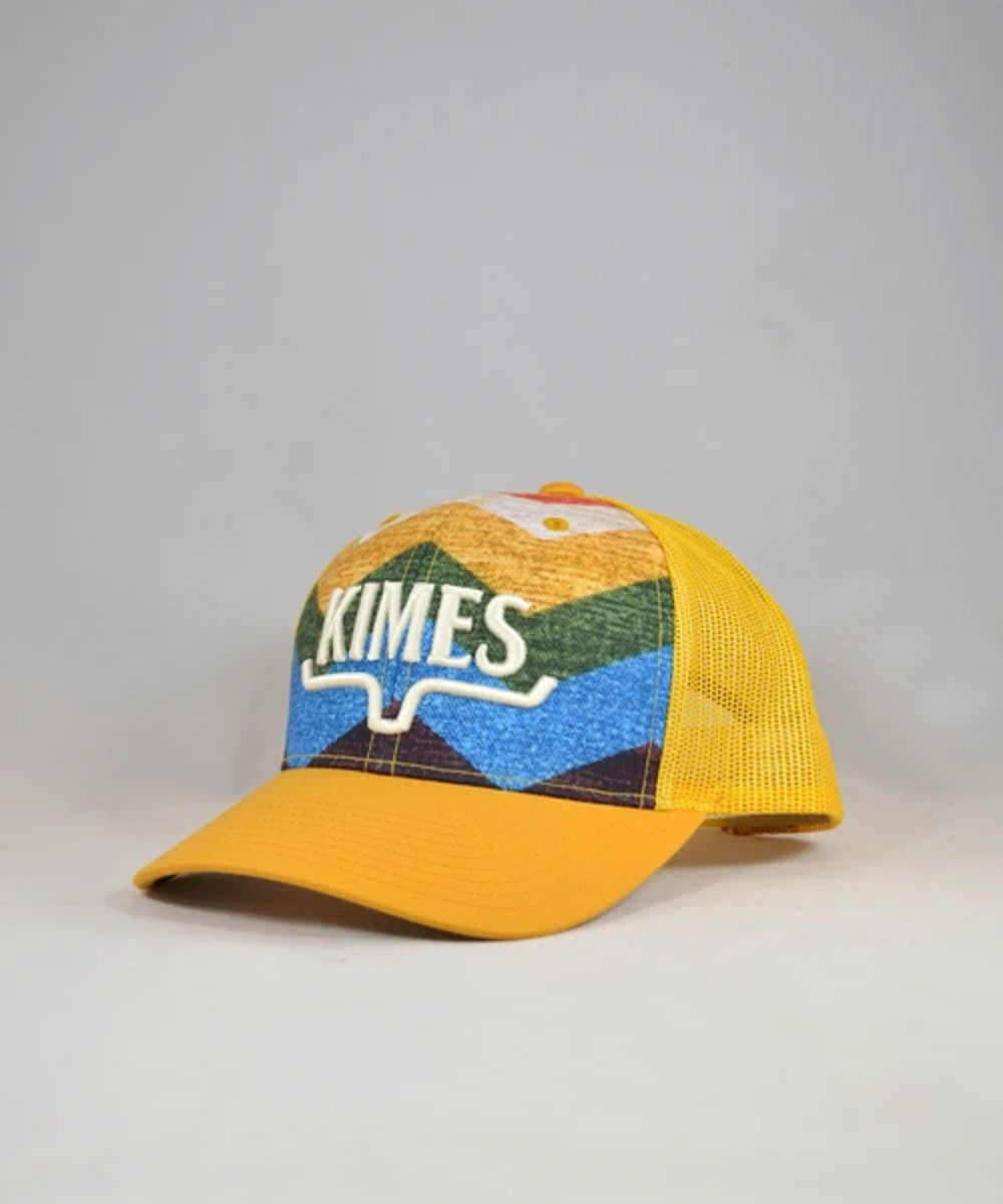 Kimes Ranch Yellow Hand Woven Trucker Cap- Style #HND WVN TRUCKER-YELLOW