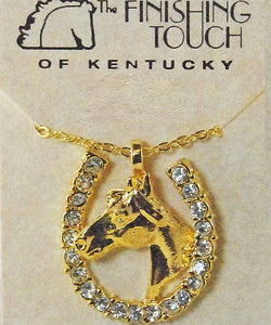 Finishing Touch Of Kentucky Women's Horse Shoe Necklace- Style #HNE703