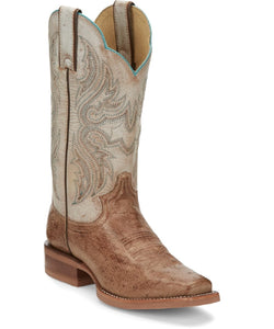 Justin Women's Willa Smooth Ostrich Square Toe Boot- Style #JE700