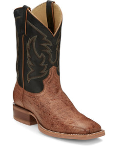 Justin Men's Mclane Smooth Ostrich Wide Square Toe Boot- Style #JE801