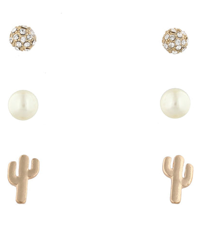 JANE MARIE WOMEN'S 3 STUD EARRING SET - STYLE #JM7117E