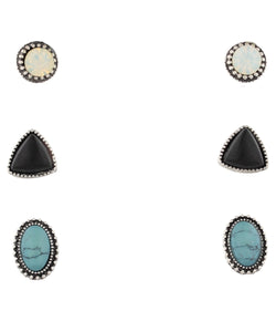 JANE MARIE WOMEN'S 3 STUD EARRING SET  - STYLE #JM7127E