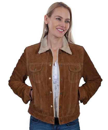 Scully Leather Women's Suede Jean Jacket- Style #L1019