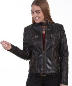 Scully Leather Women's Black Vintage Lamb Jacket- Style #L8