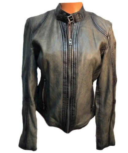 Mauritius Chr Fashion Corp Lucy Leather Jacket- Style #LUCY 2 RF